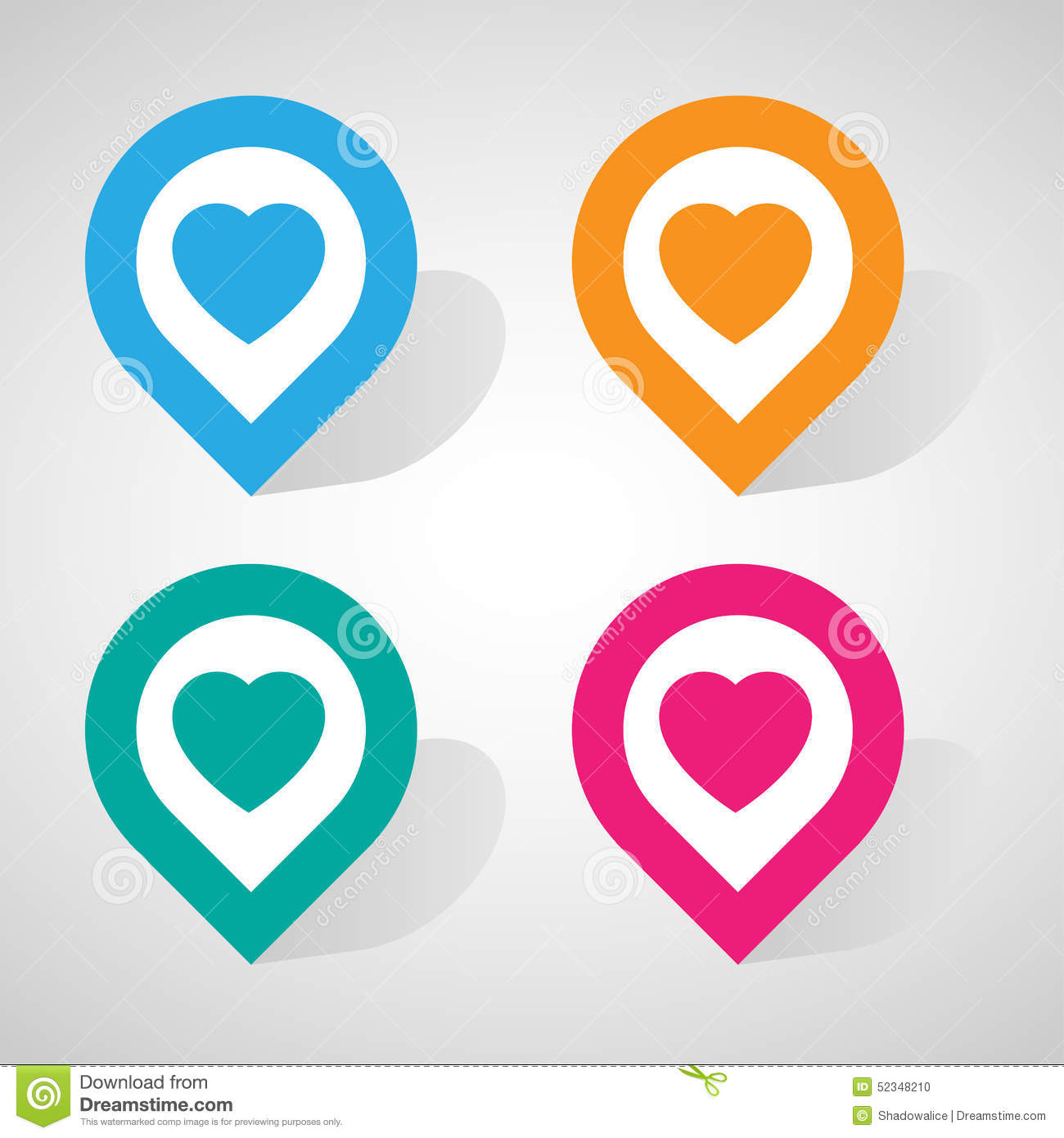 Heart Check In Icon Great For Any Use Vector Eps10 Stock Vector Illustration Of Pink Heart 52348210
