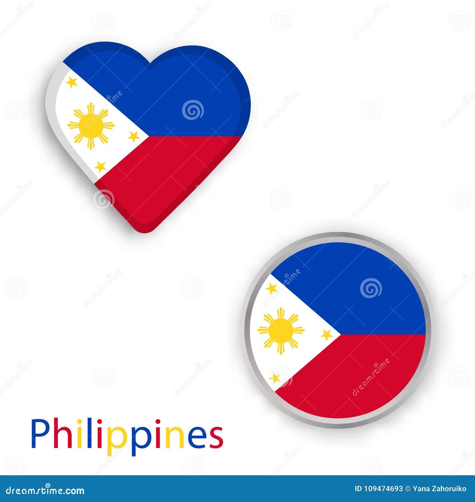 Heart and circle symbols with flag of philippines stock heart and circle symbols with flag of philippines buycottarizona Images