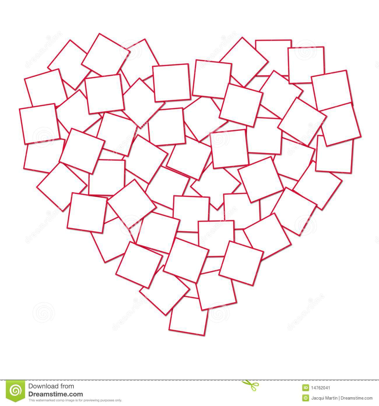 Heart Shaped Collage Template for Pinterest