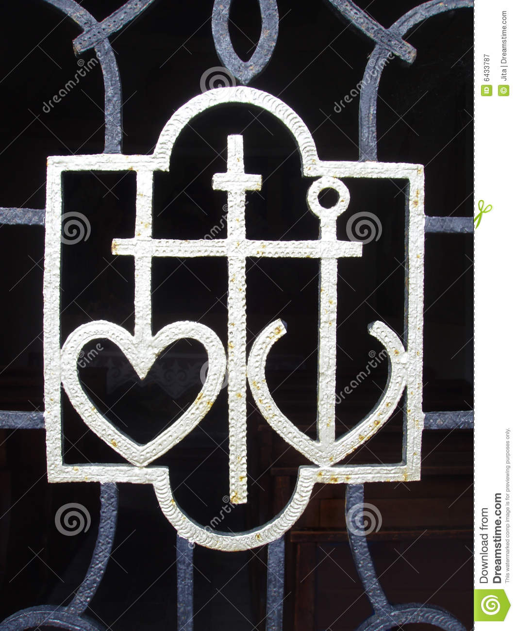 Anchor Heart and Cross
