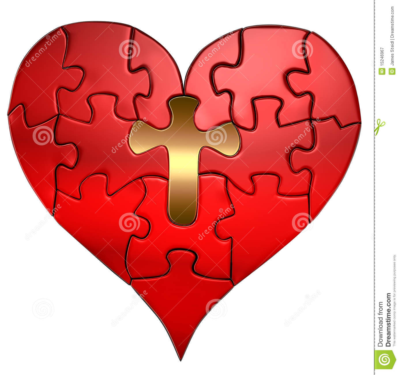 free cross and heart clipart - photo #33