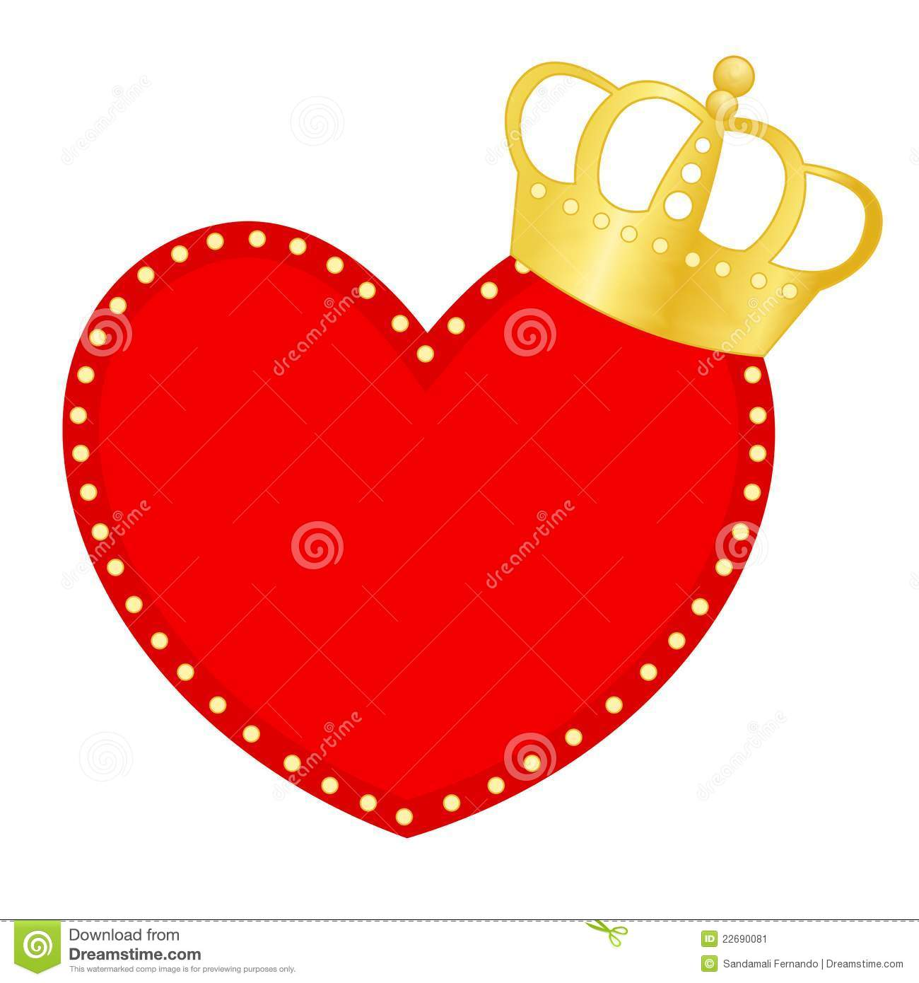 More similar stock images of ` Heart and crown `