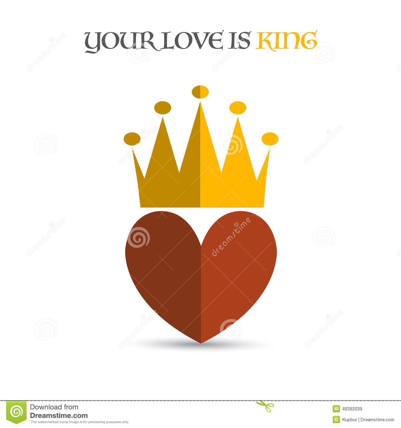 Heart crown stock vector  Illustration of concept, luxury - 49392039