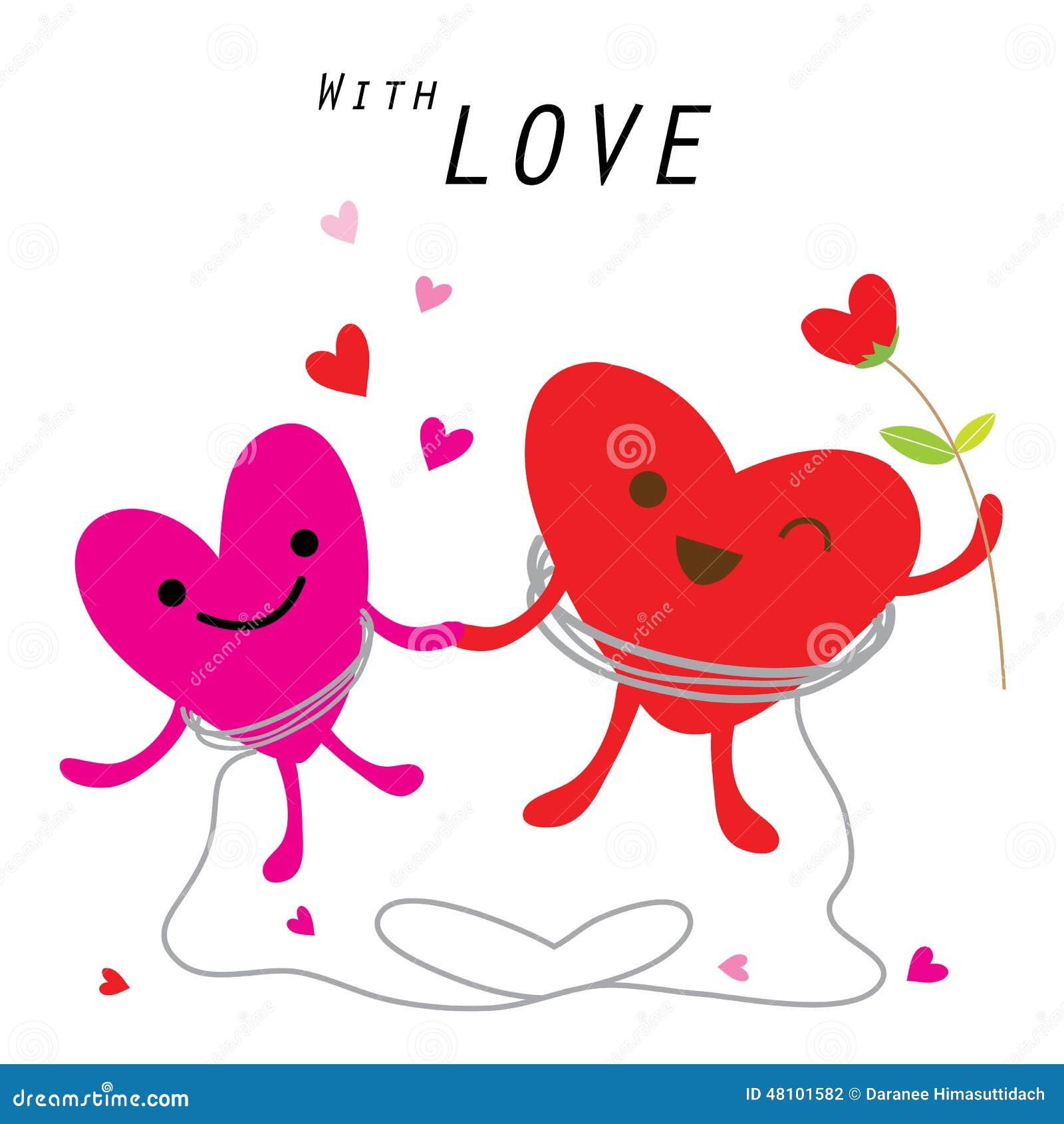 Cute Cartoon Character Design : Heart cute cartoon character vector stock