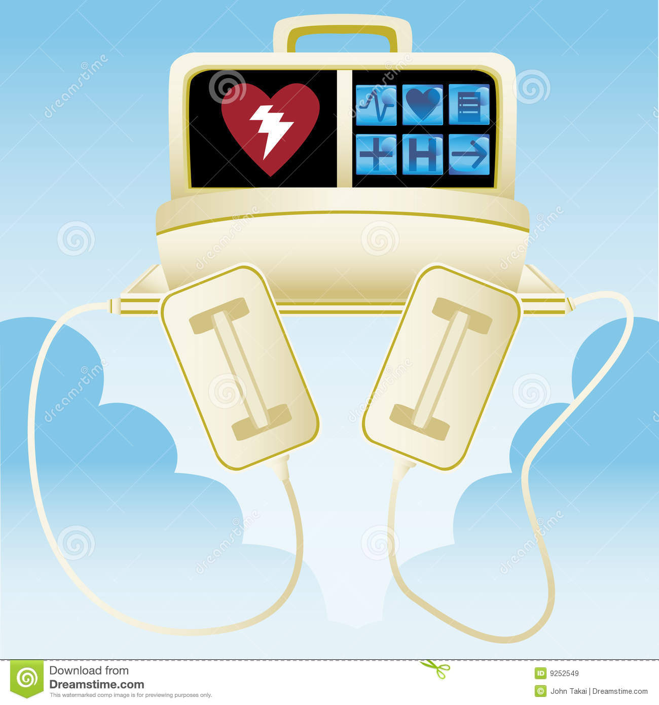 Heart Defibrillator Royalty Free Stock Images - Image: 9252549