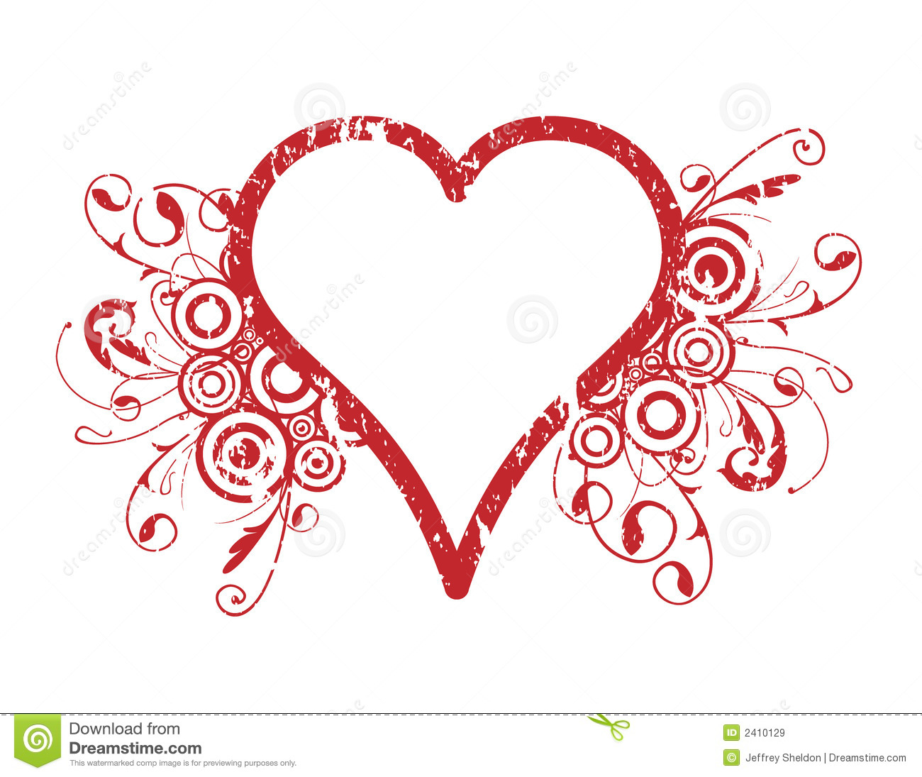 Heart design stock vector image of curving circles for Heartbeat design