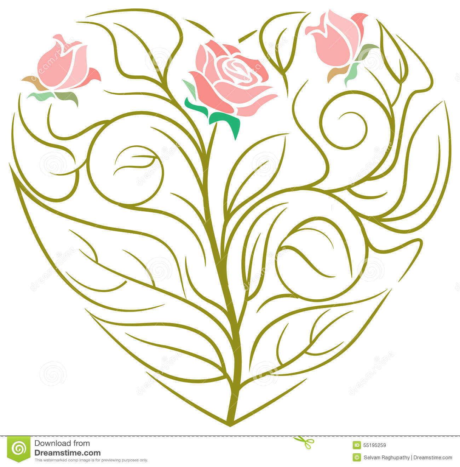 Heart Line Art Design : Heart design stock vector illustration of frame bouquet