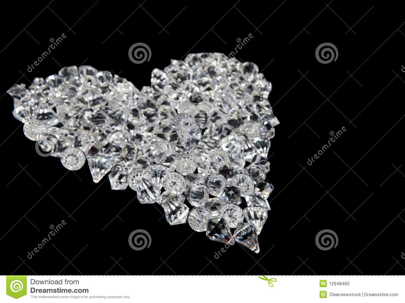 Heart Diamonds Black Royalty Free Stock Image