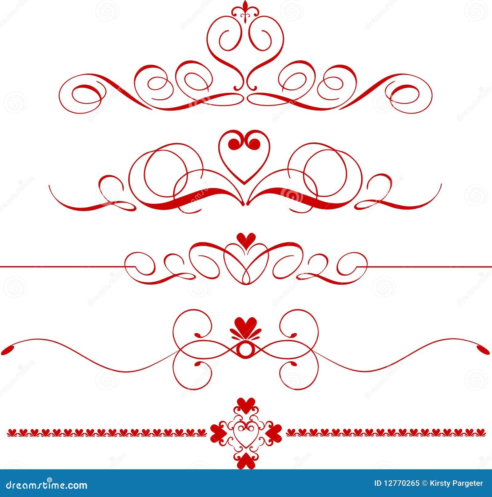 Heart Divider Clip Art