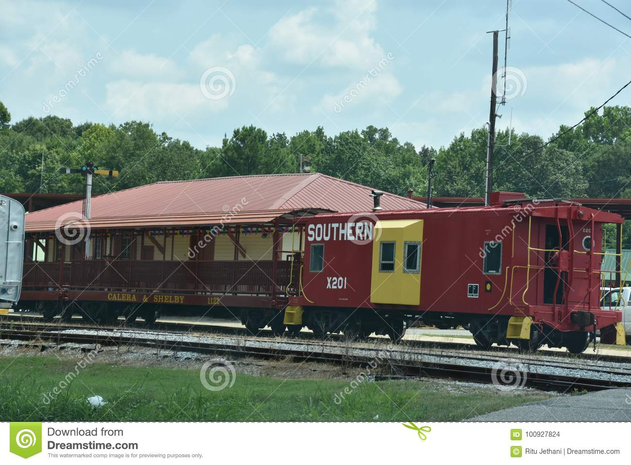 Heart Of Dixie Railroad Museum In Alabama Editorial Stock Image