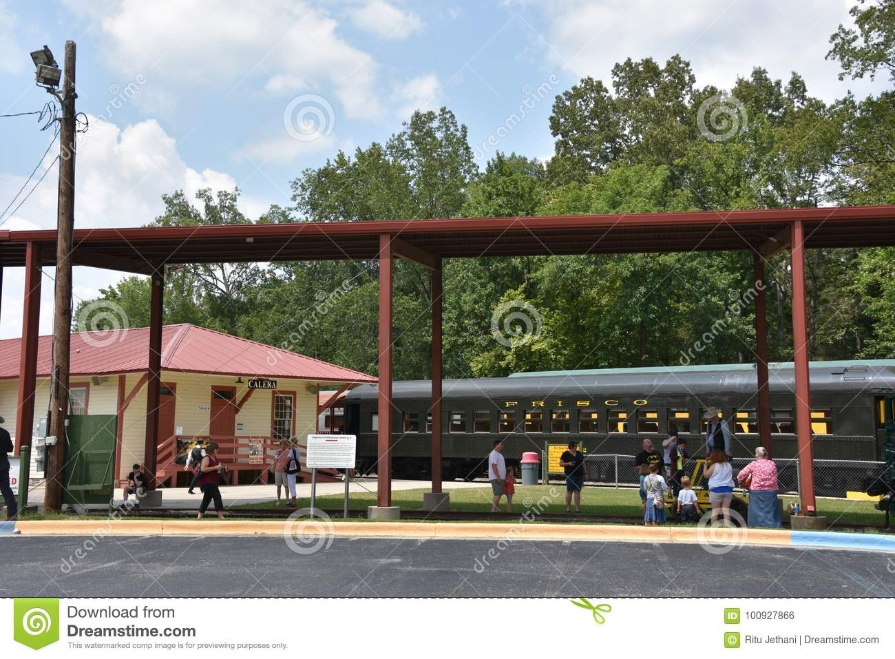 Heart Of Dixie Railroad Museum In Alabama Editorial Photo