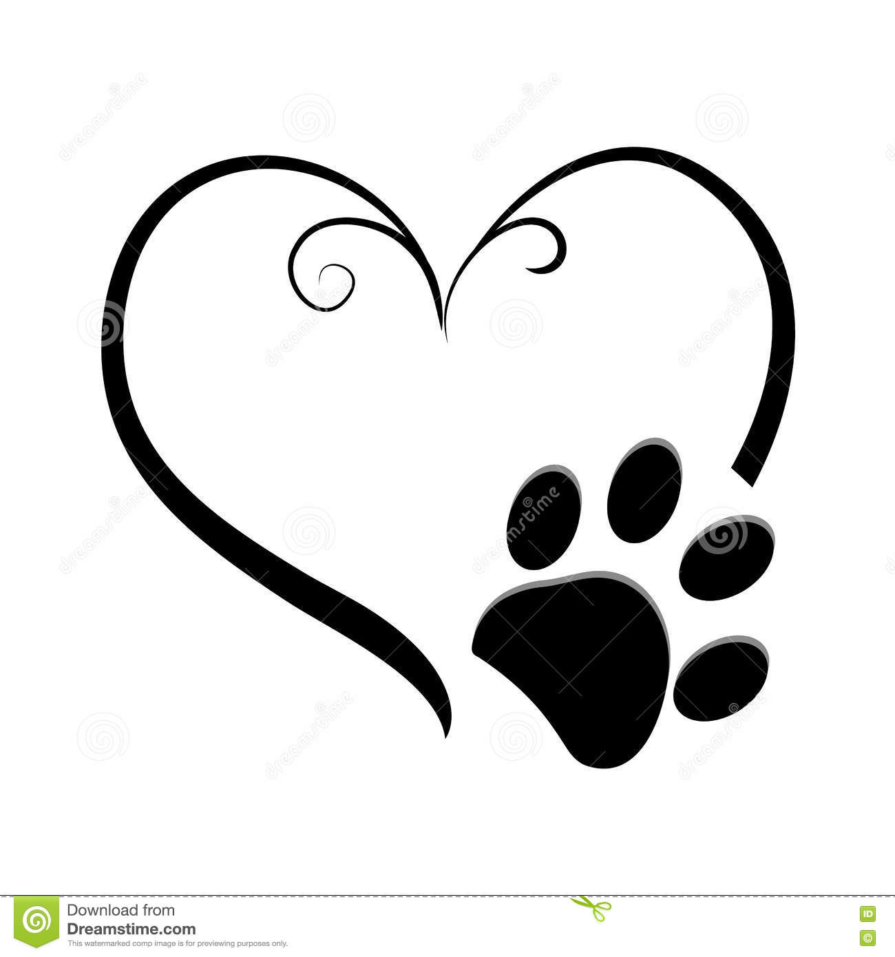 Dog paw symbol images symbol and sign ideas heart and dog paw prints symbol tattoo stock vector illustration heart and dog paw prints symbol biocorpaavc