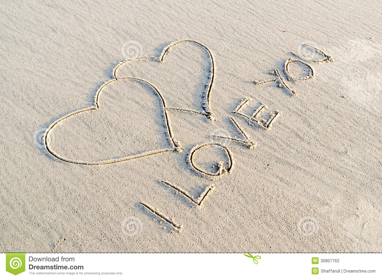 Heart Drawn On Sand Stock Photography - Image: 30807762
