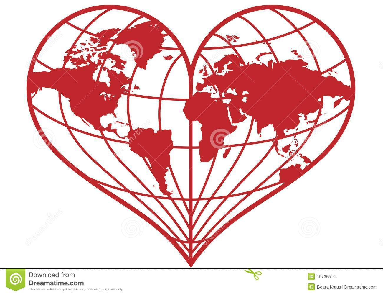 heart earth globe  stock images