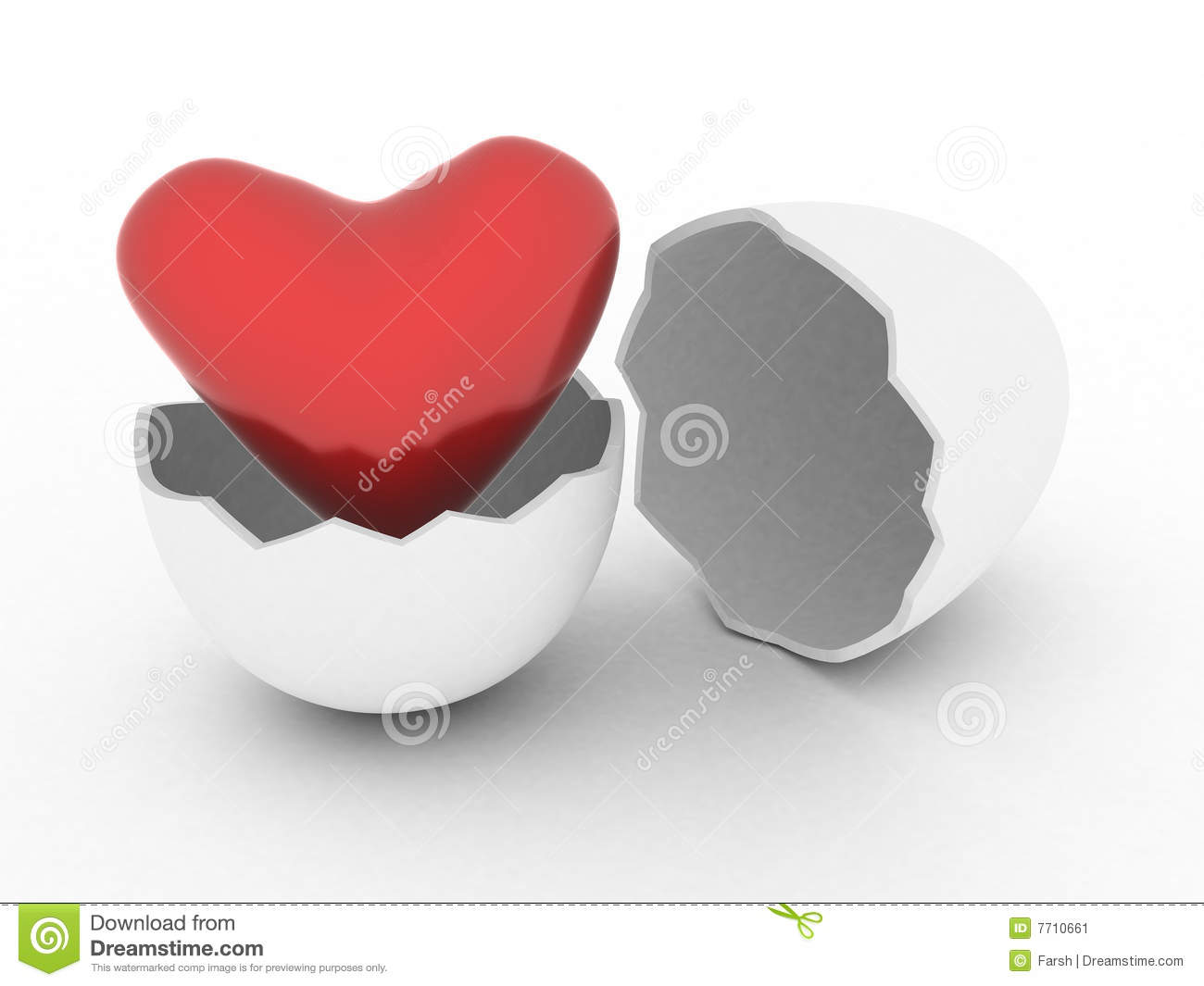 Heart in egg