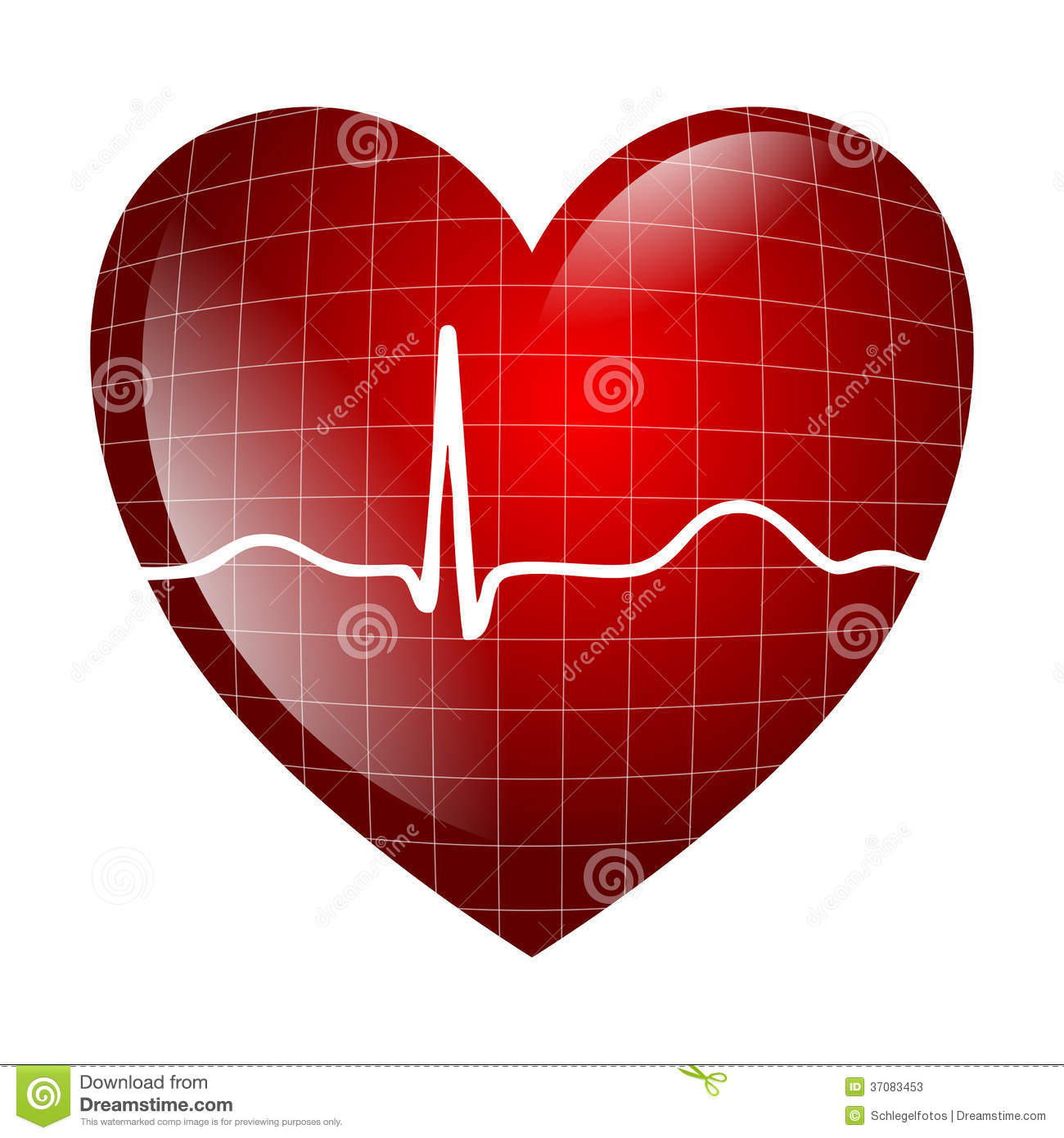 Heart Electrocardiogram Stock Photos - Image: 37083453