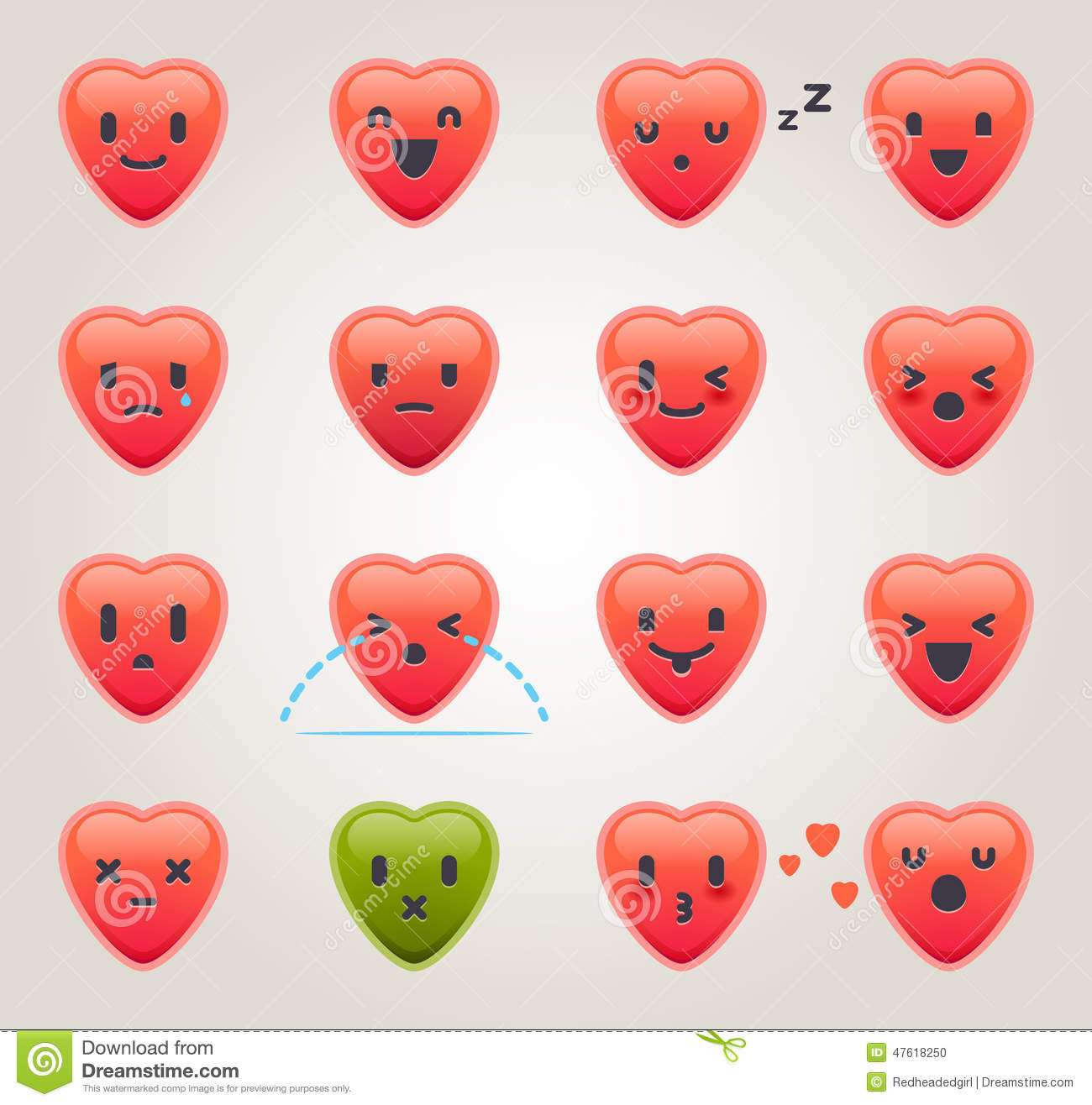 Love Emojis stock vector  Illustration of angry, playful