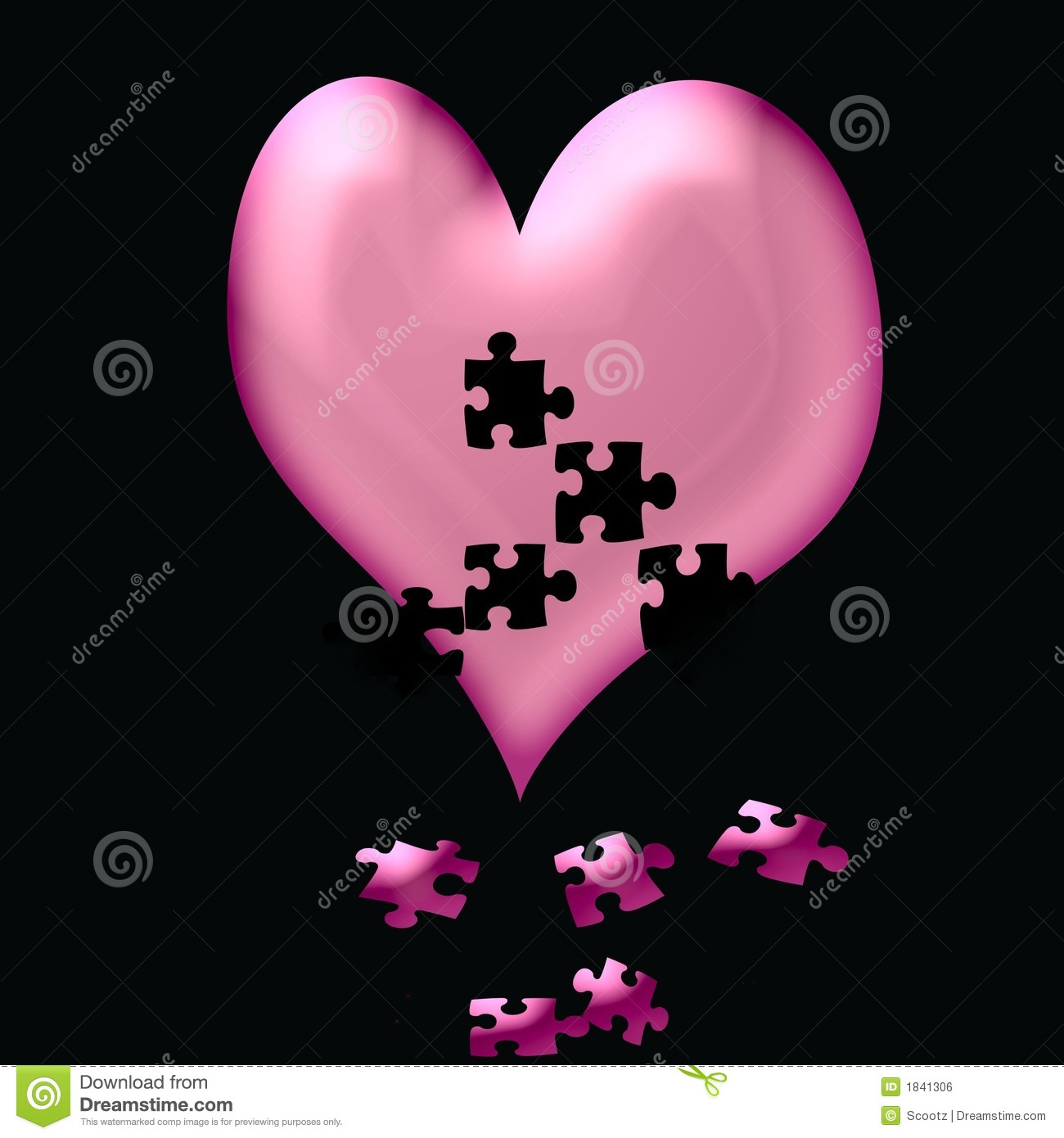 Heart Fall To Pieces Royalty Free Stock Image