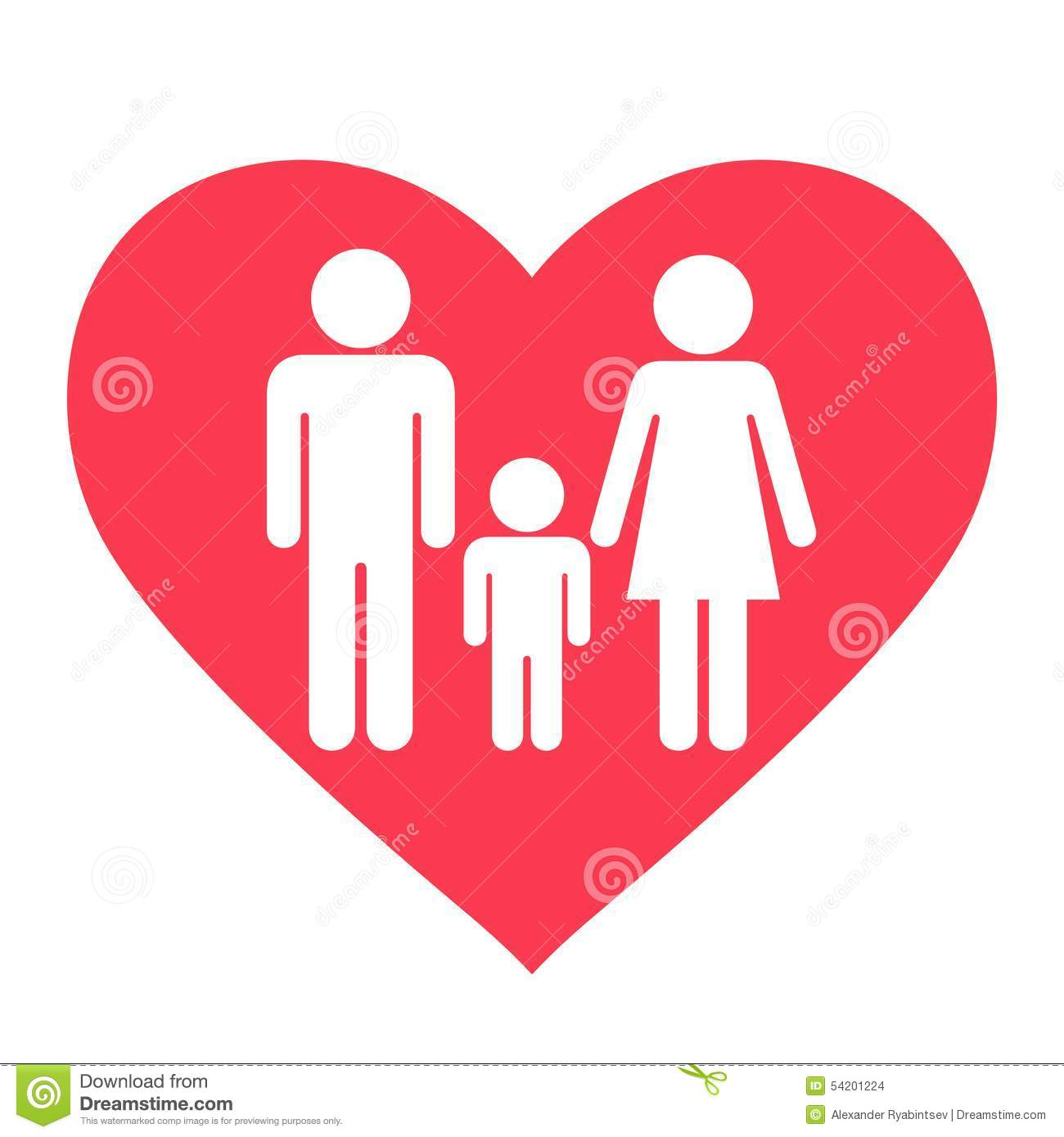 Heart Family Icon Stock Vector - Image: 54201224