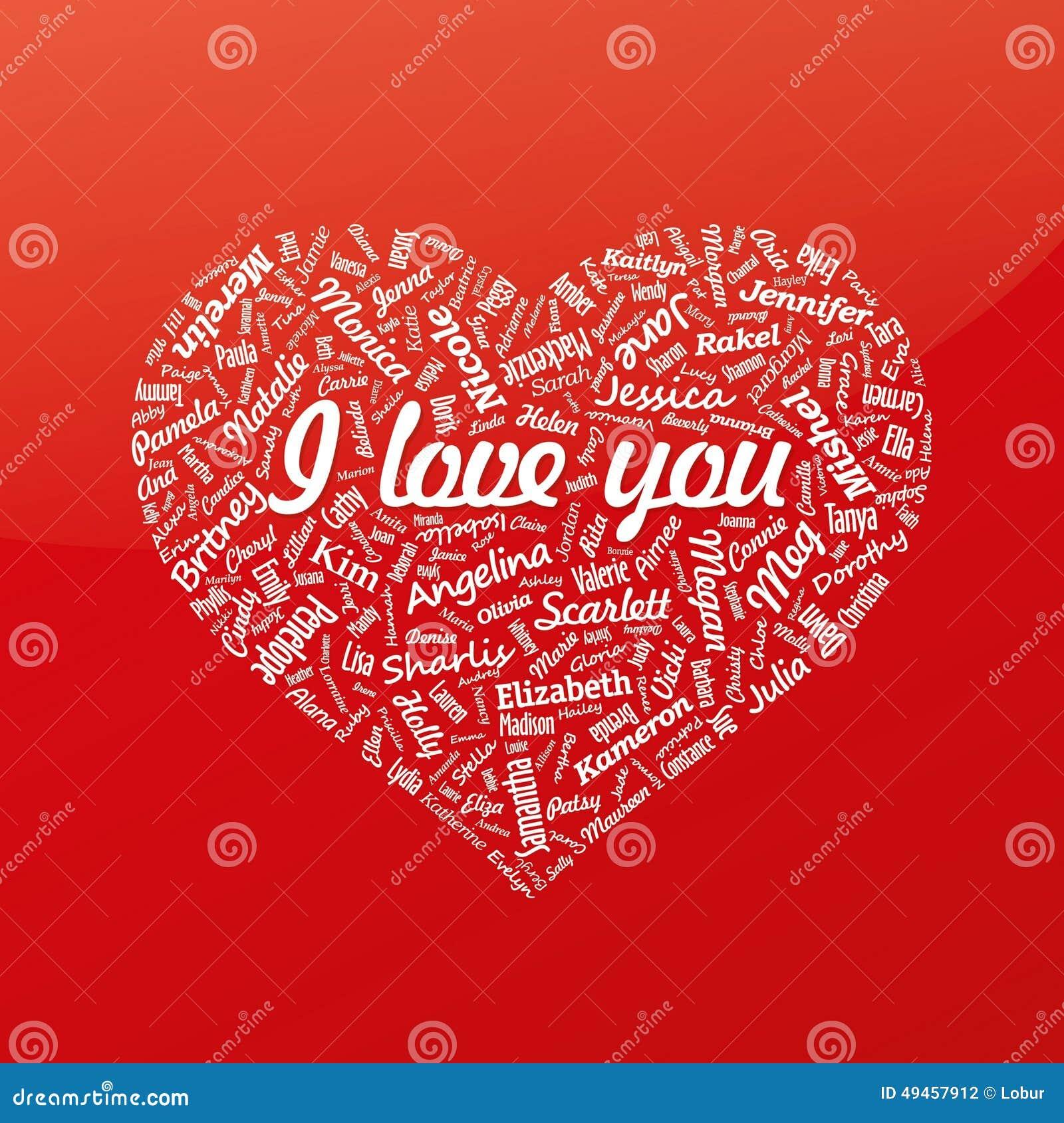 royalty free illustration - Valentines Names