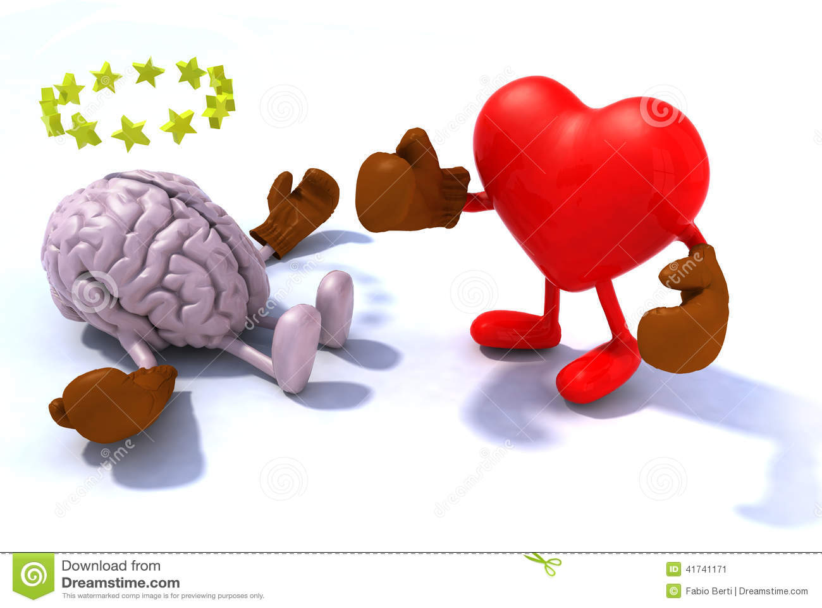 Heart fighting brain