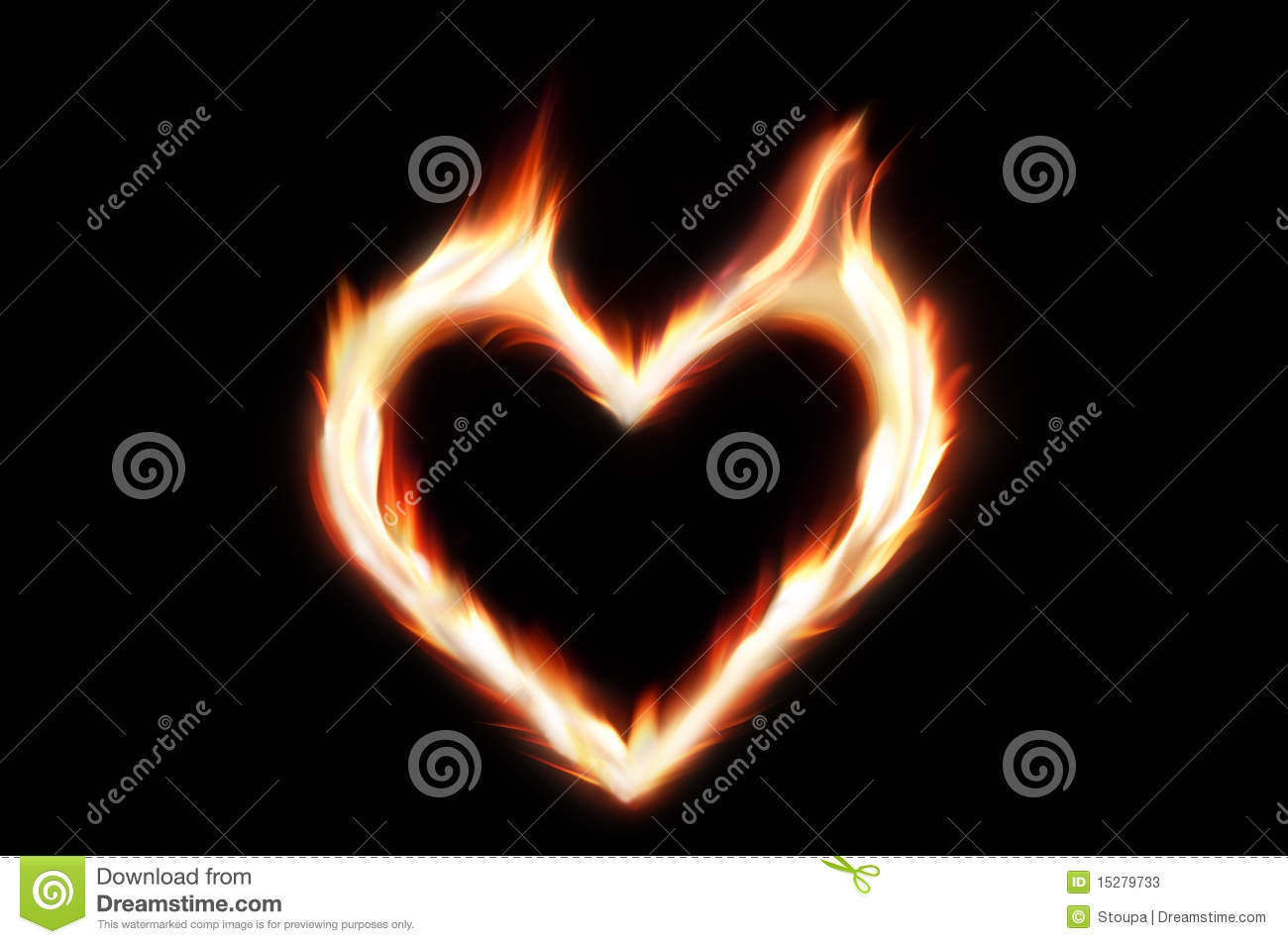 Heart Of Fire Stock Image Image Of Burning Romantic 15279733
