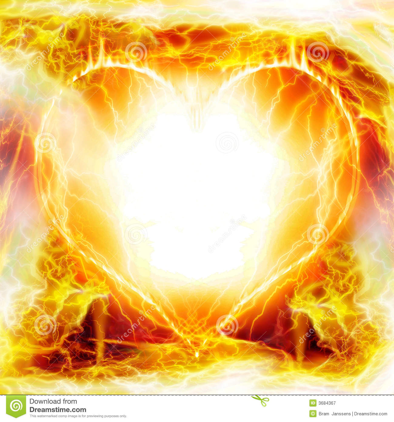heart on fire stock illustration image of fire yellow