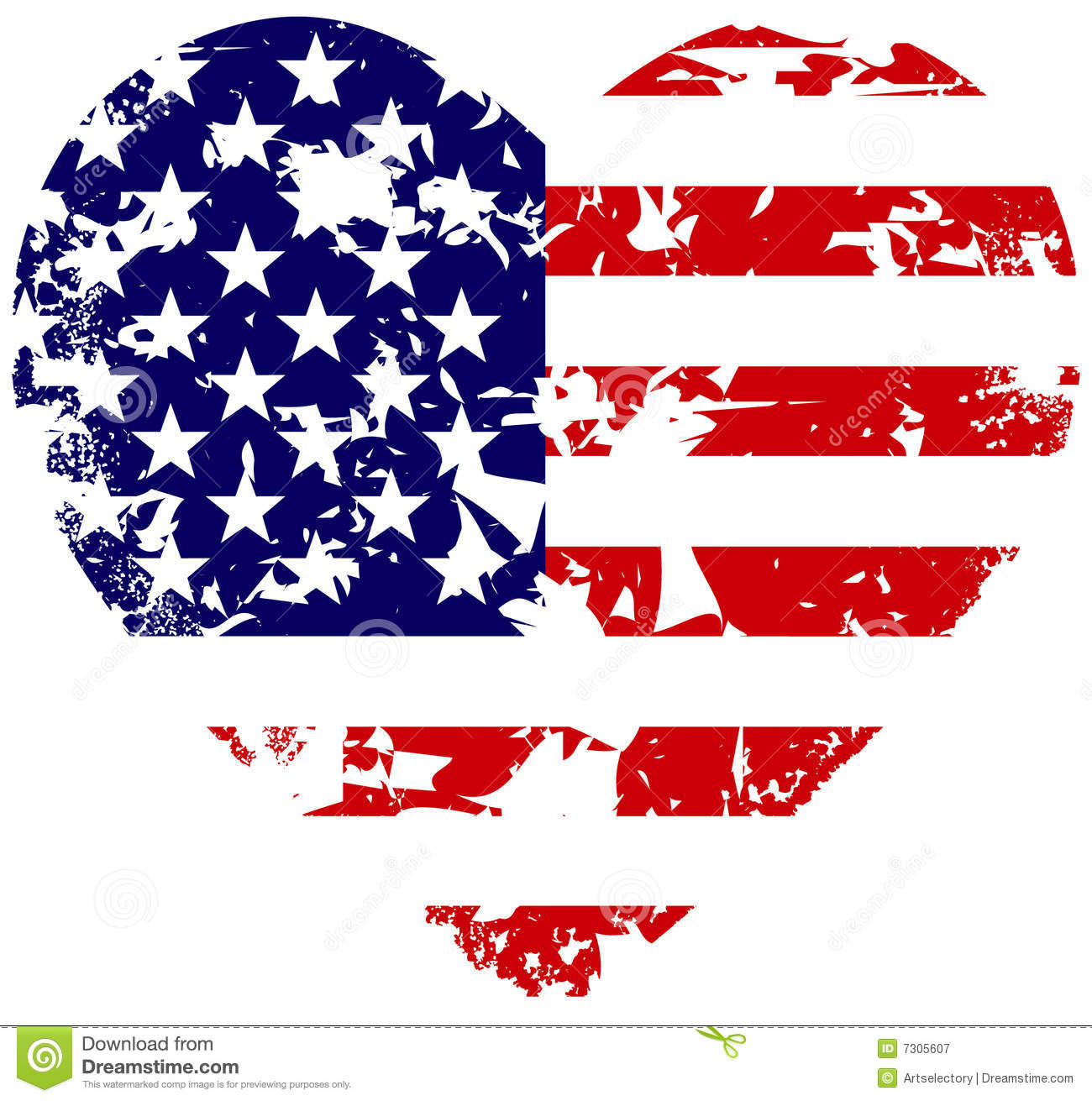 Heart Flag Royalty Free Stock Photography - Image: 7305607