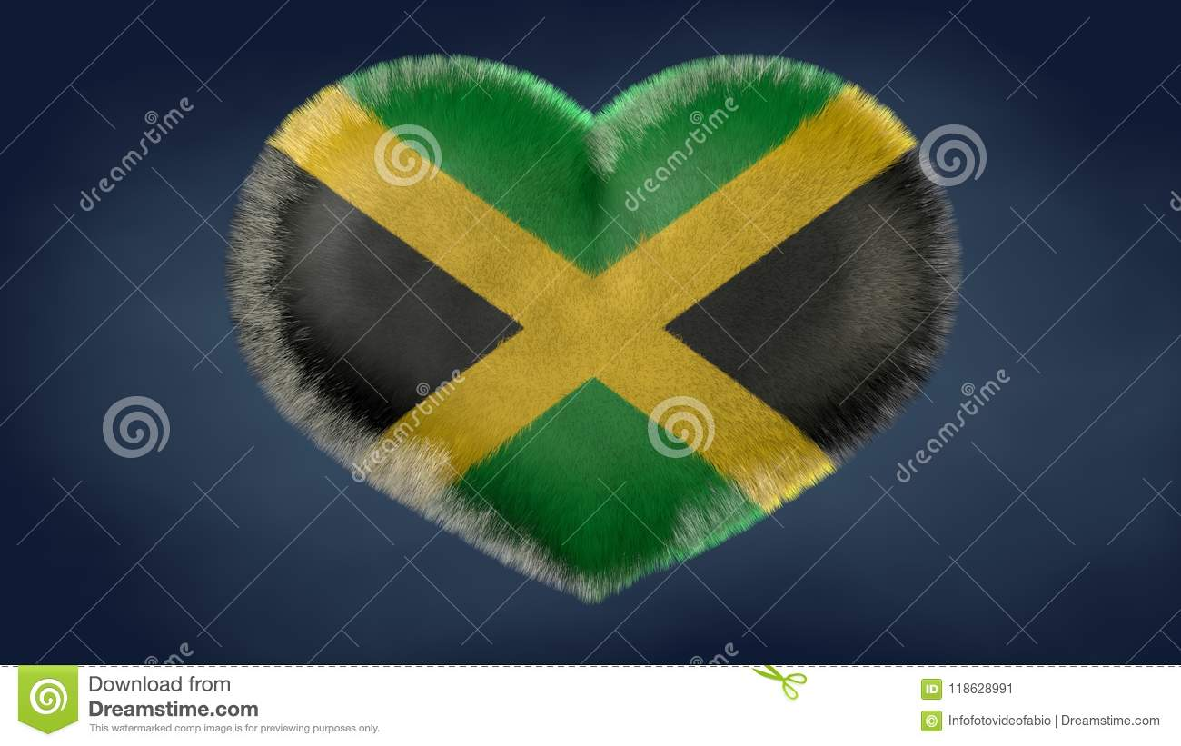 Download heart of the flag of jamaica stock illustration illustration of fede della