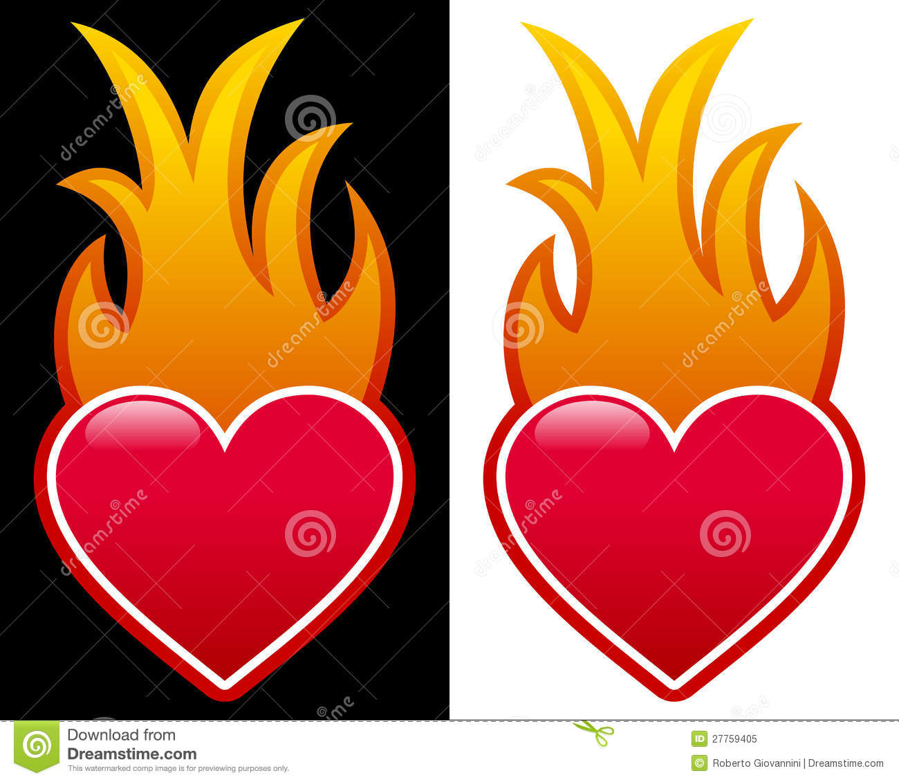 Hearts With Flames Dra...