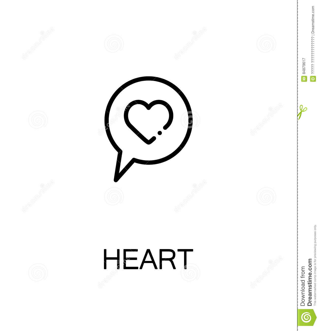 Heart flat icon stock vector illustration of flat illustrator heart flat icon buycottarizona Image collections