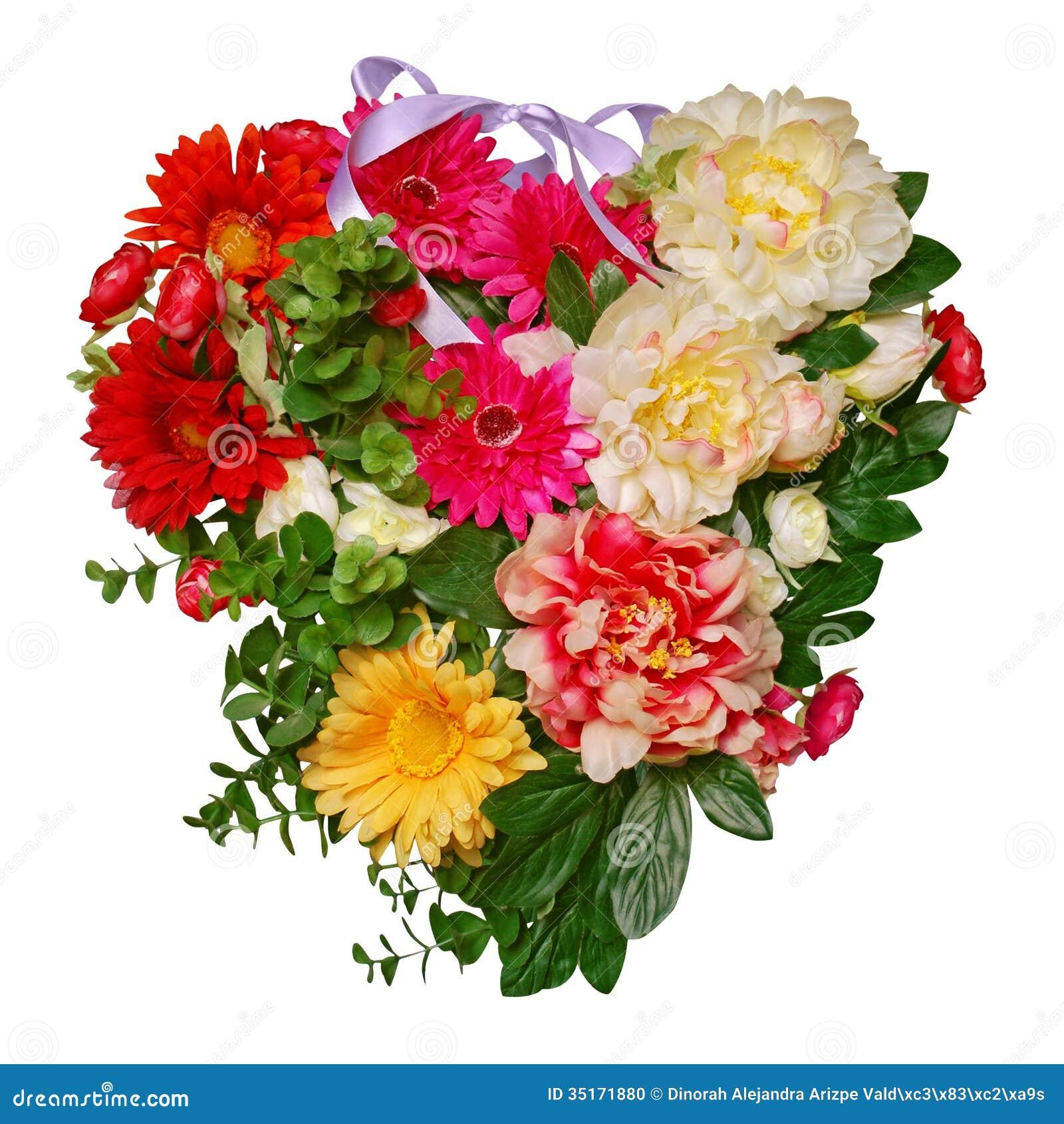 Heart Of Flowers Stock Photo Image Of Romantic White 35171880