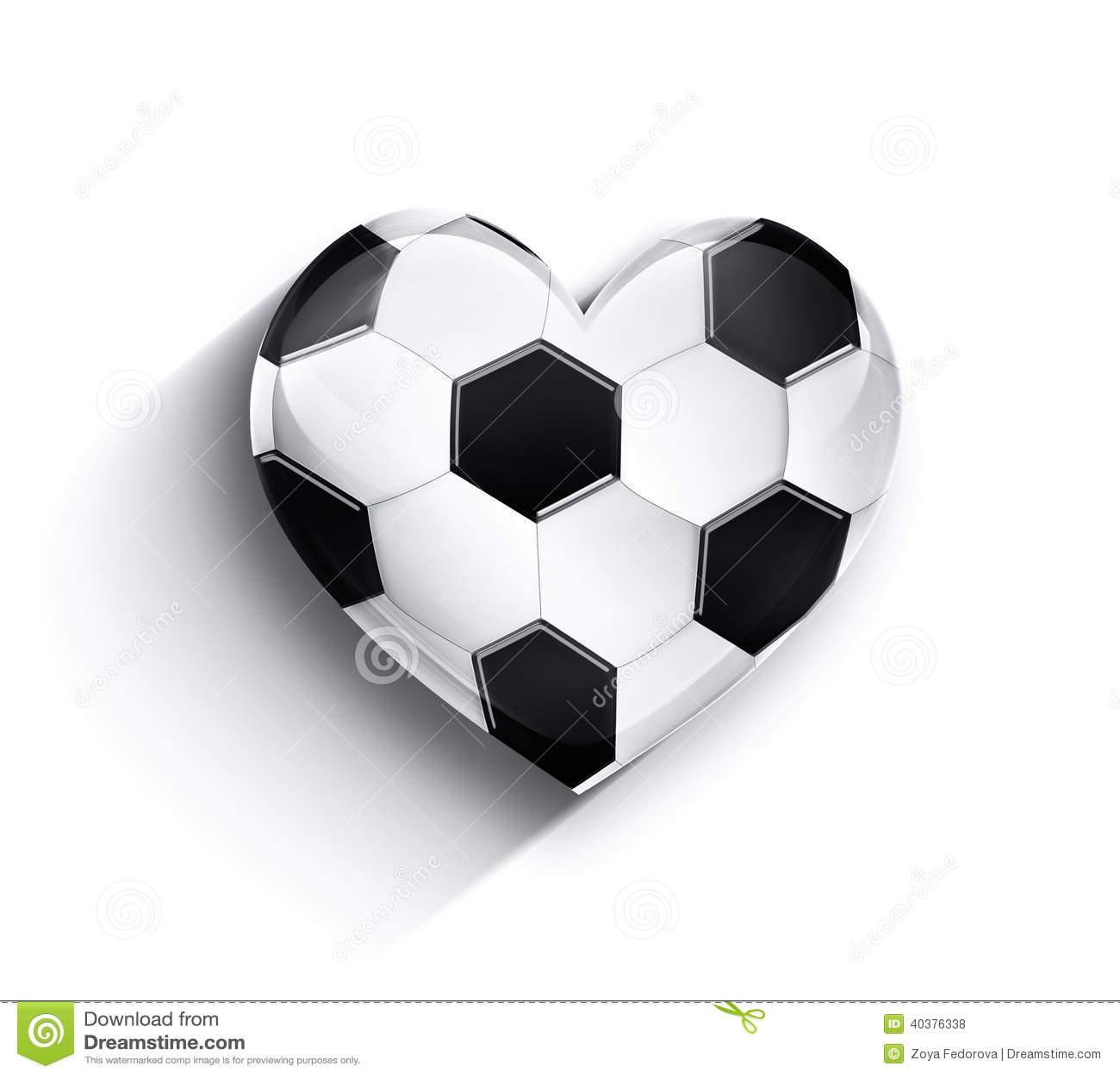 Heart of football stock illustration illustration of image 40376338 heart of football image love buycottarizona