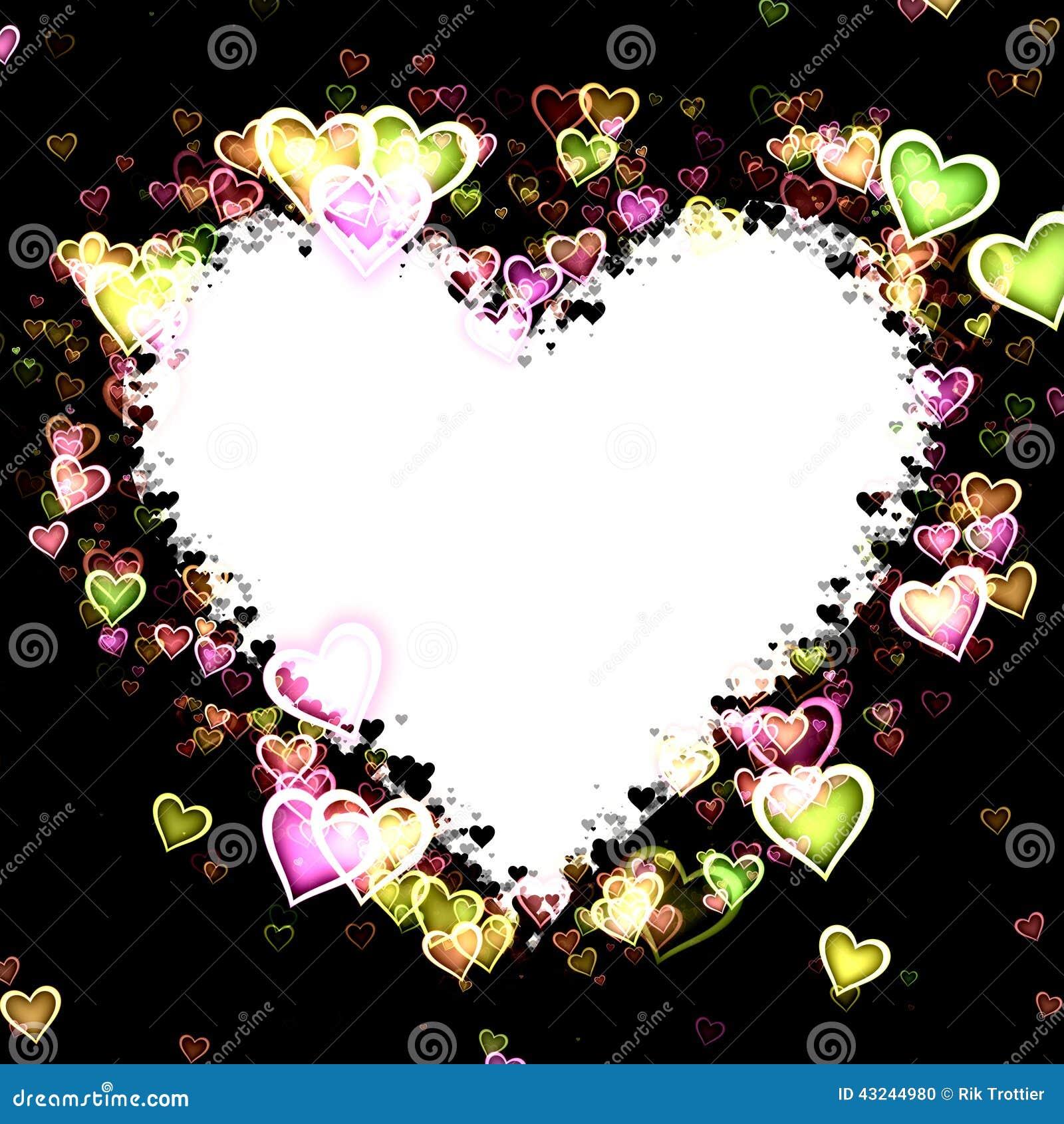 Heart Frame stock photo. Illustration of black, hearts - 43244980