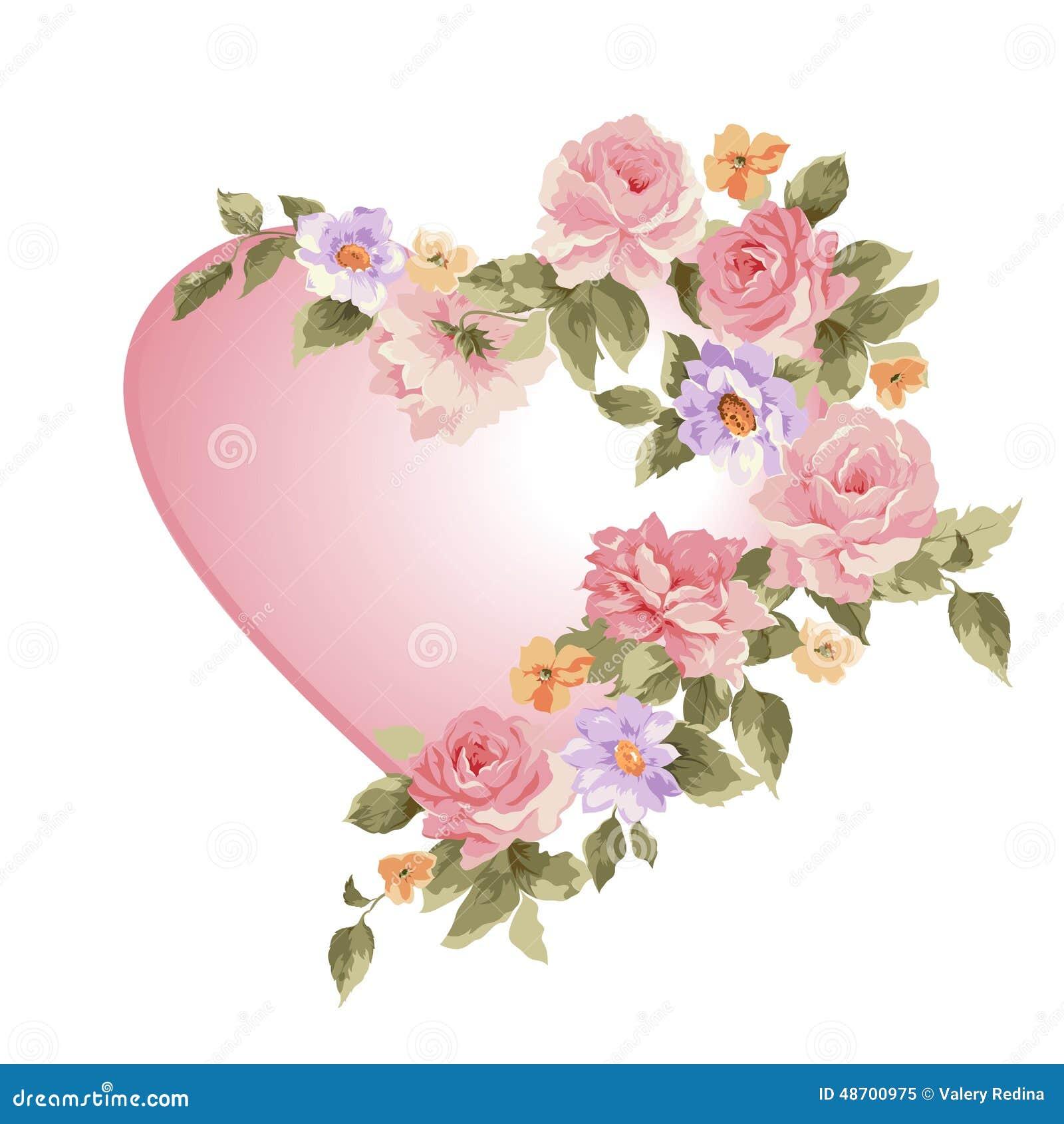 heart in flower - photo #5
