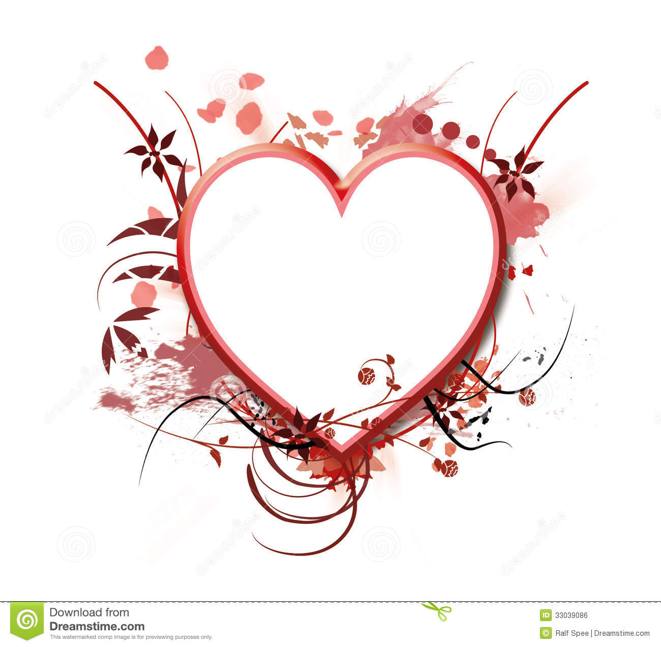 Heart Frame Royalty Free Stock Image - Image: 33039086