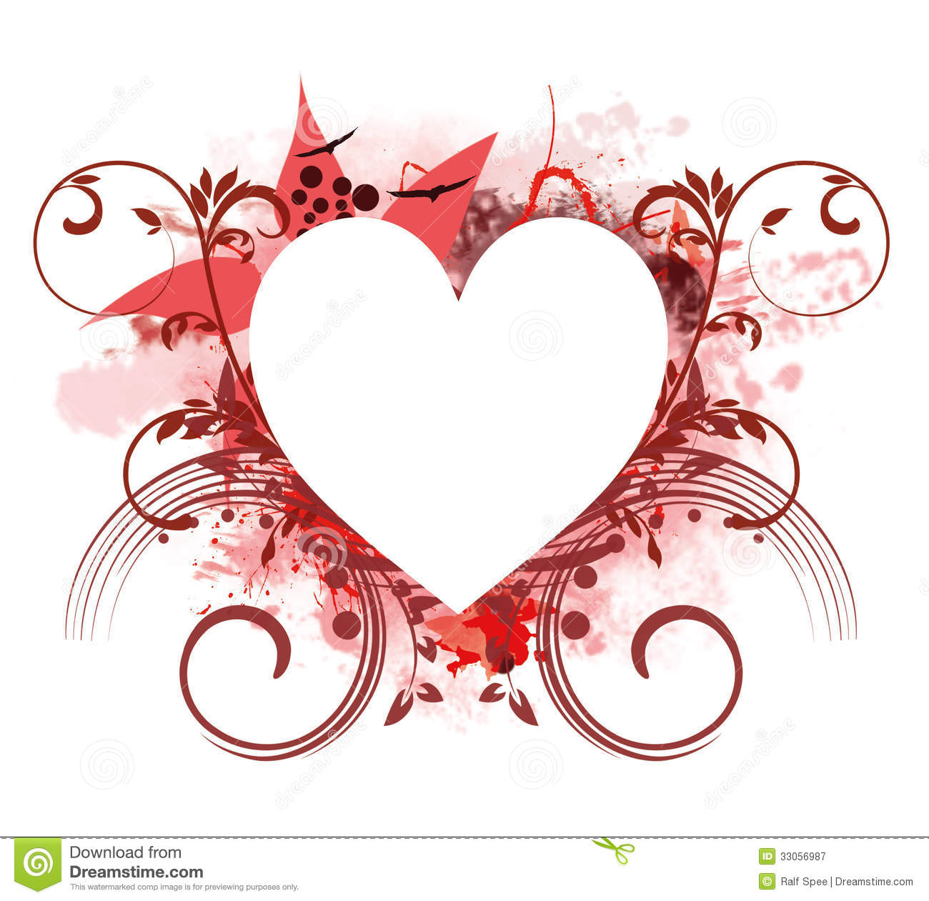 Heart Frame Royalty Free Stock Photography - Image: 33056987