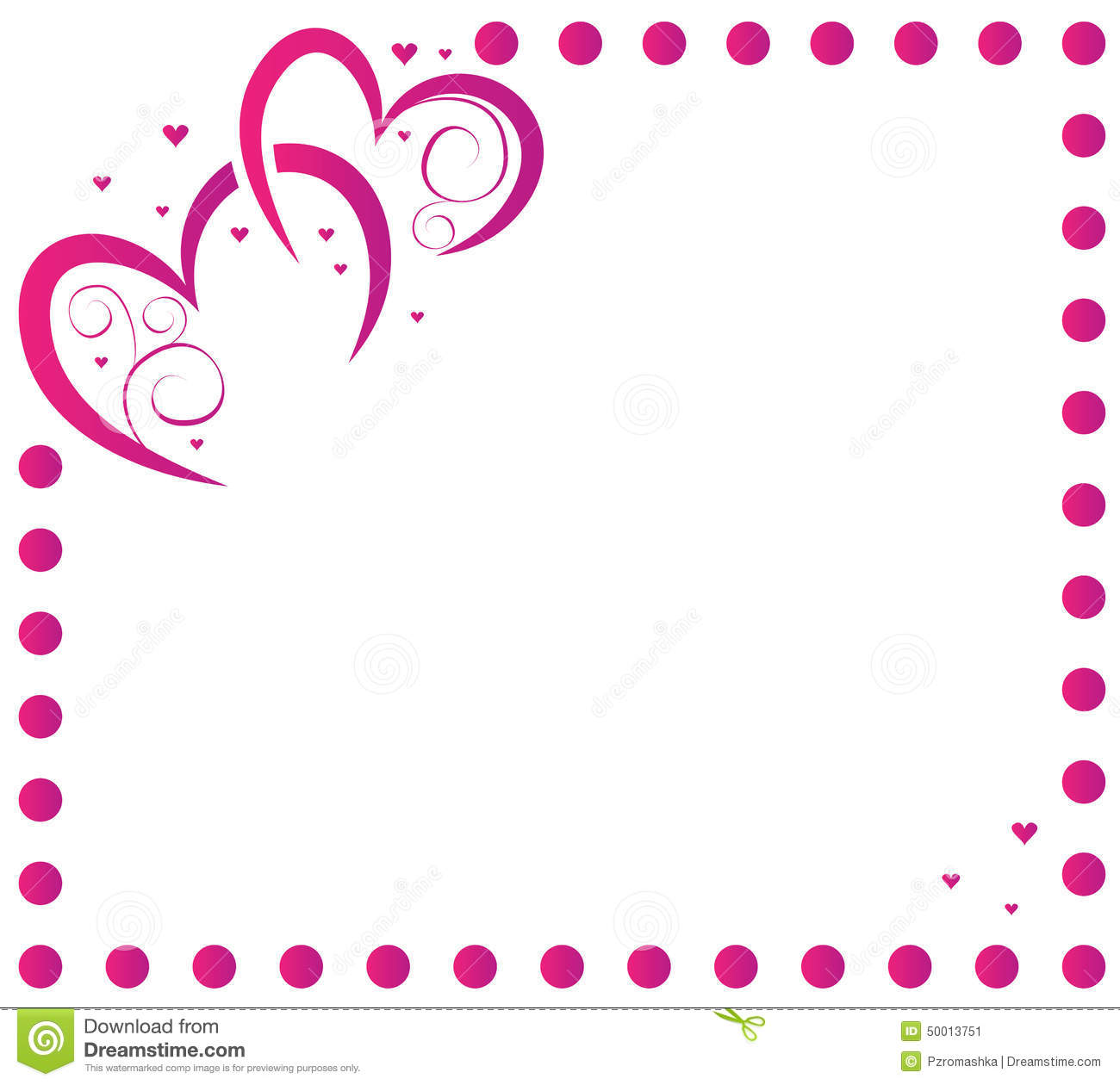 Heart And Frame For Valentine\'s Day Stock Vector - Illustration of ...
