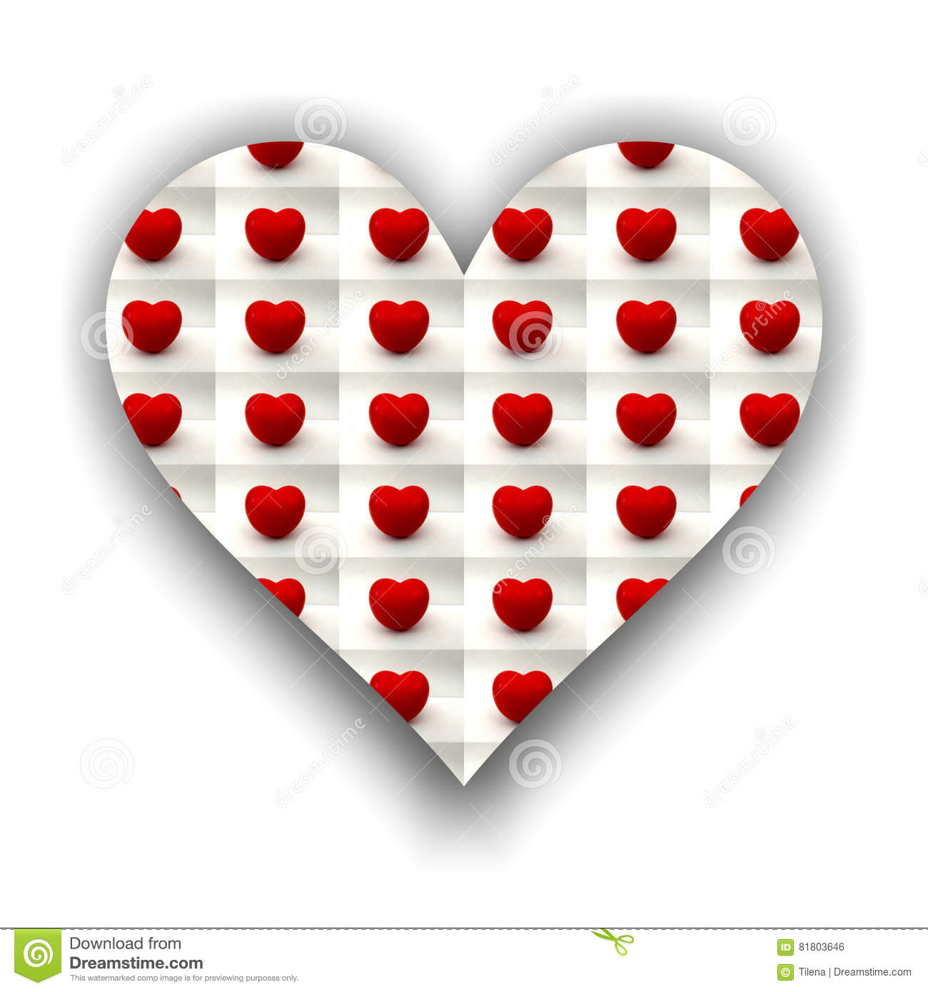Heart Full Of Small Tomato Hearts Stock Illustration - Illustration ...