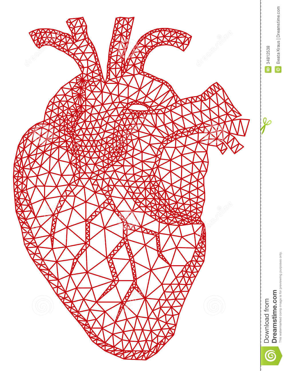 Heart With Geometric Pattern, Vector Royalty Free Stock Photos ...