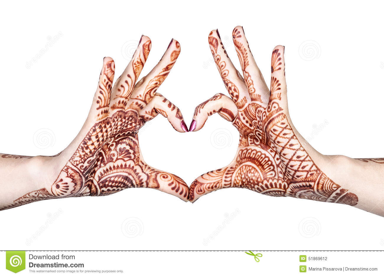 heart gesture with henna stock photo image of health