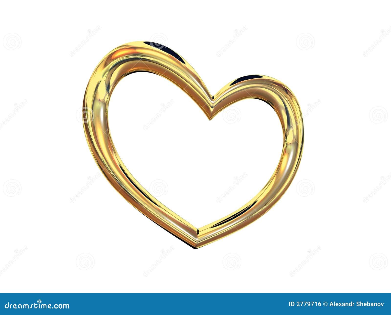 Heart gold costume jewellery
