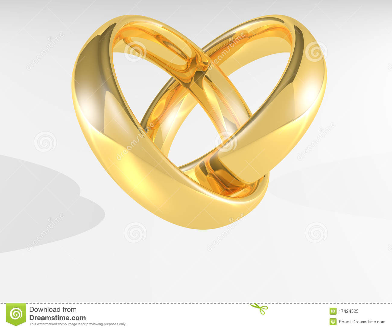 heart gold wedding rings stock illustration illustration