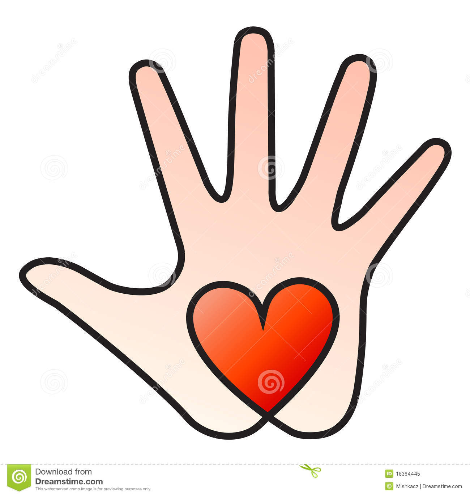heart hand royalty free stock photo image 18364445
