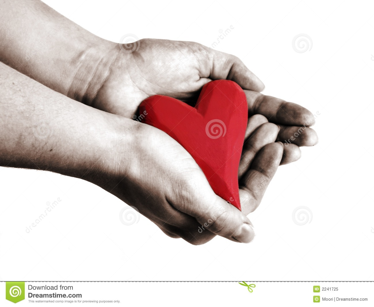 Heart in hand stock image. Image of heart, hands, shape ...