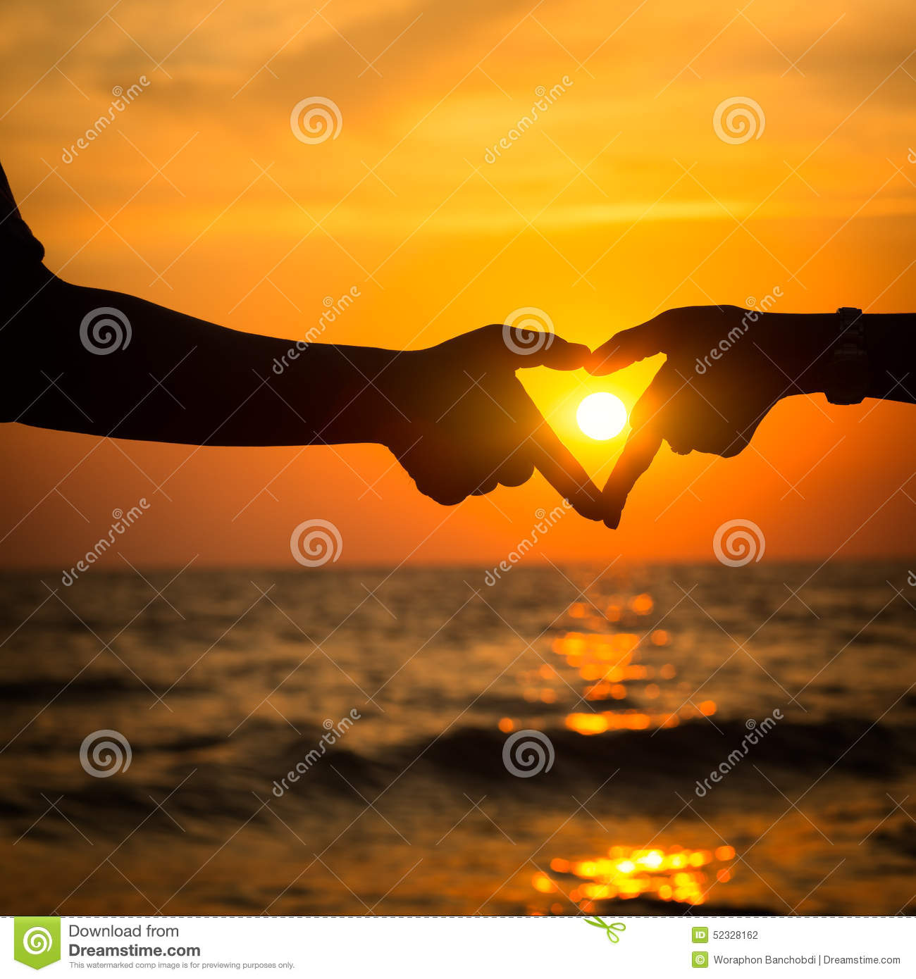 Heart Hand Of Couple Stock Photo. Image Of Concept, Beach