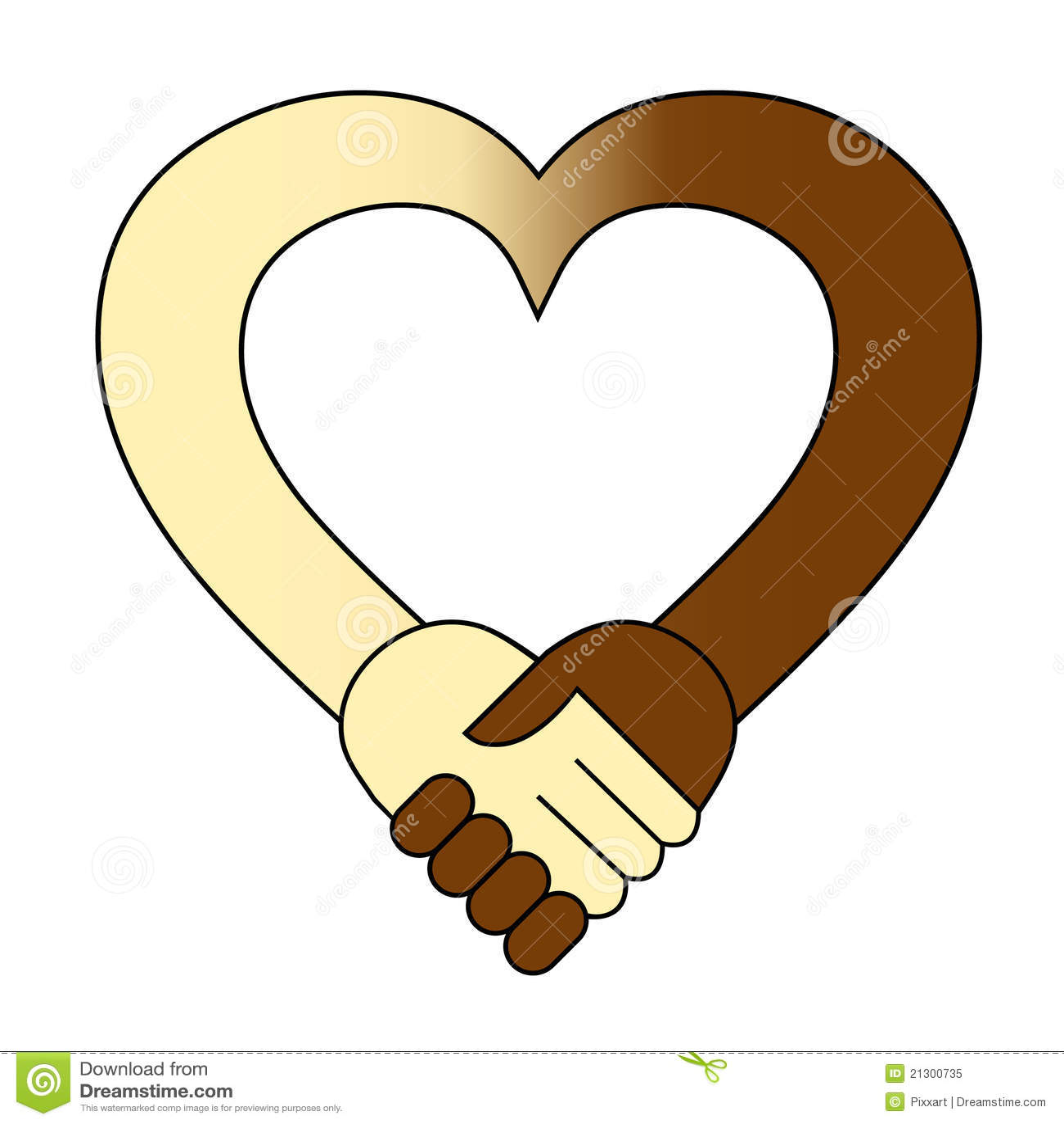 heart hand shake stock vector illustration of friendship