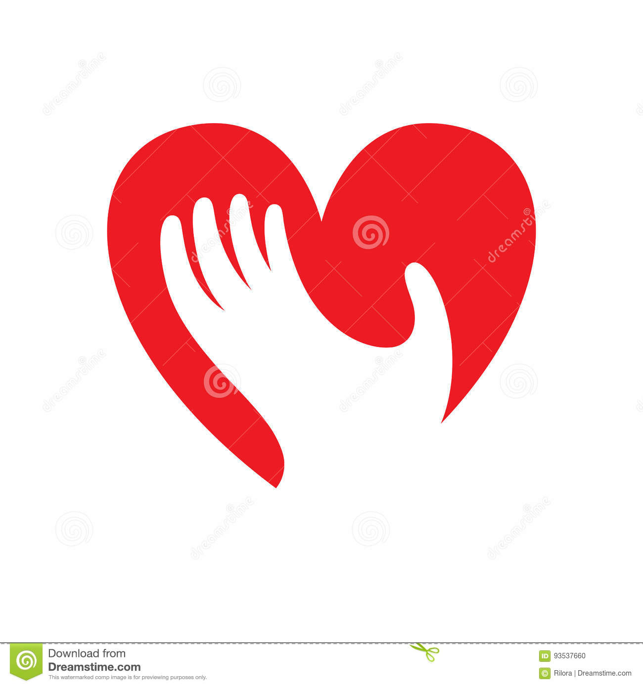 Heart with hand symbol sign icon logo template for charity heart with hand symbol sign icon logo template for charity health voluntary etc biocorpaavc