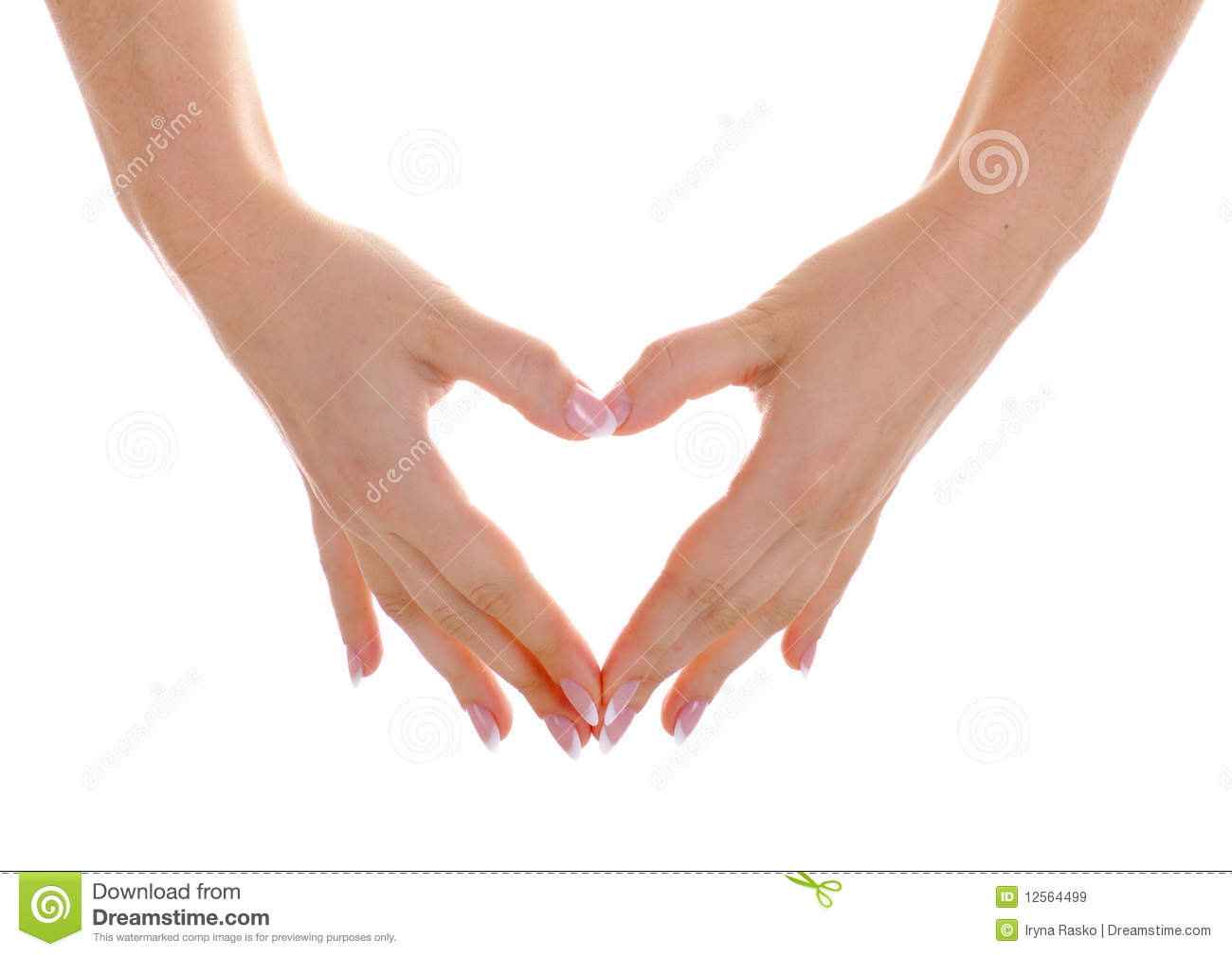 Heart by hands with nice manicure