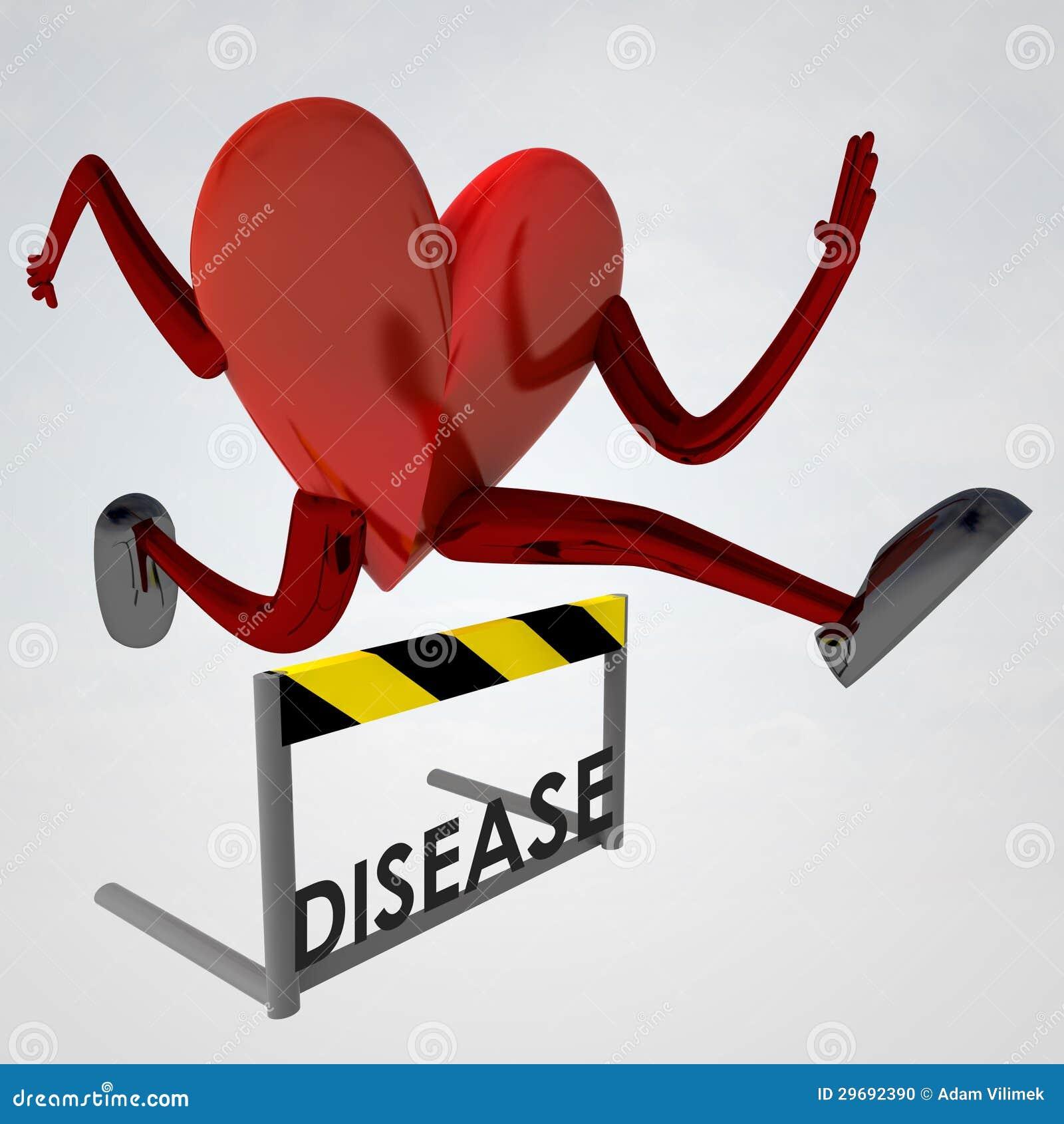 Heart Health Figure Jump Over Disease Stock Illustration ...